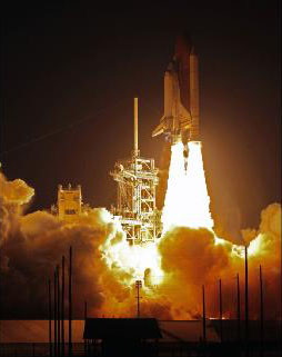 Lift off of Space shuttle Discovery - STS119 Click for a high resolution version