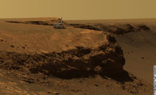 Opportunity on the edge of the Victoria crater